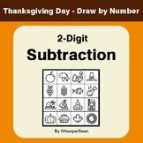 Thanksgiving Math: 2-Digit Subtraction - Math & Art - Draw