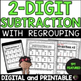 2-Digit Subtraction With Regroup Worksheets Math Jokes   Digital and Printable