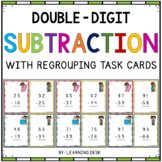 2-Digit Subtraction Task Cards (With Regrouping)
