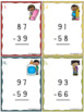 2 Digit Subtraction With Regrouping Task Cards