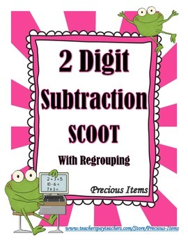 2 Digit Subtraction With Regrouping Scoot