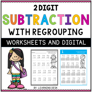 2 Digit Subtraction With Regrouping Worksheets