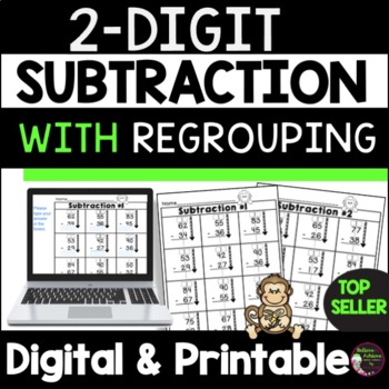2-Digit Subtraction With Regrouping Worksheets