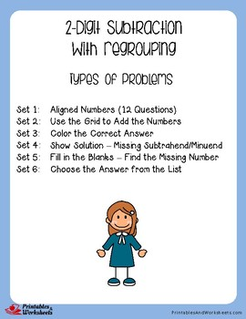 2 Digit Subtraction With Regrouping Assessment, Worksheets With Answer Keys