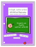 2 Digit Subtraction (With and Without Regrouping) Worksheet