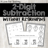 2 Digit Subtraction Without Regrouping {No Prep + Digital}