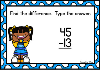 2-Digit Subtraction Without Regrouping BOOM Cards {Digital Task Cards}