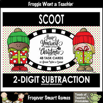 "2-Digit Subtraction Without Regrouping-""Have Yourself A Merry Little Christmas"""