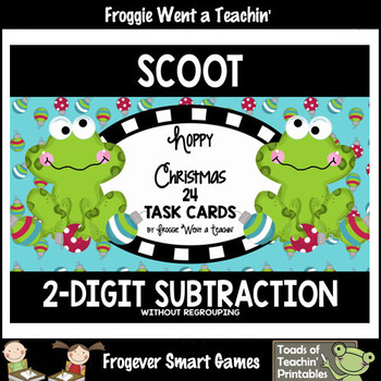 """2-Digit Subtraction Without Regrouping -- """"Hoppy Christmas"""""""