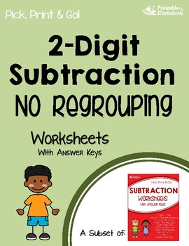 2 Digit Subtraction Without Regrouping Worksheets With Answer Keys