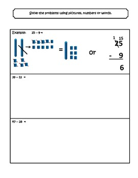 2 Digit Subtraction Worksheets With Regrouping