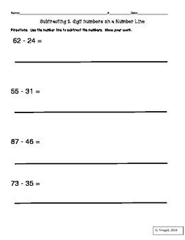 2 Digit Subtraction using Numberlines
