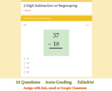 2 Digit Subtraction with Regrouping Assessment - Google Fo