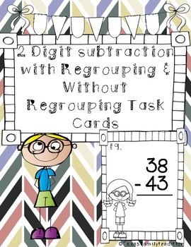 2 Digit Subtraction w/ Regrouping & w/out Regrouping