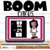 2 Digit Subtraction with Regrouping Boom Cards Distance Learning