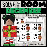 2 Digit Subtraction with Regrouping Christmas