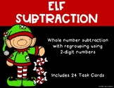 2 Digit Subtraction with Regrouping {Christmas - Elf}