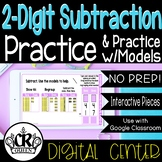 2-Digit Subtraction with Regrouping Digital Math Centers f
