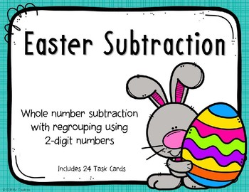 2 Digit Subtraction with Regrouping {Easter}