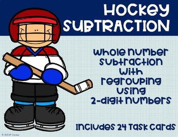 2 Digit Subtraction with Regrouping {Hockey}