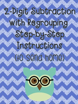 2-Digit Subtraction with Regrouping Instructions