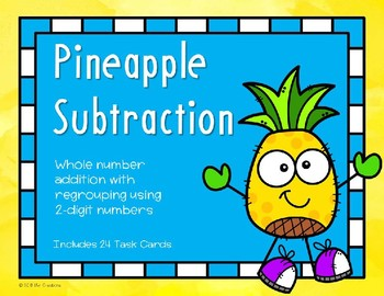 2 Digit Subtraction with Regrouping {Pineapple}