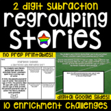 2 Digit Subtraction with Regrouping Stories - 10 Math Enri