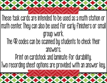 2-Digit Subtraction with Regrouping TASK CARDS - Christmas Themed with QR Codes!