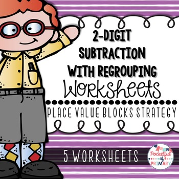 2-Digit Subtraction with Regrouping WORKSHEETS: Place Valu