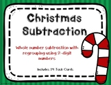 2 Digit Subtraction with Regrouping {Christmas Theme}