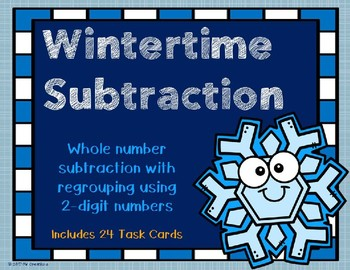 2 Digit Subtraction with Regrouping {Winter Theme}