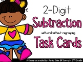 2-Digit   Subtraction (with and without regrouping) Task Cards