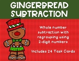 2 Digit Subtraction with regrouping {Christmas - Gingerbread}