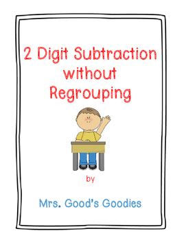 2 Digit Subtraction without Regrouping NO PREP!