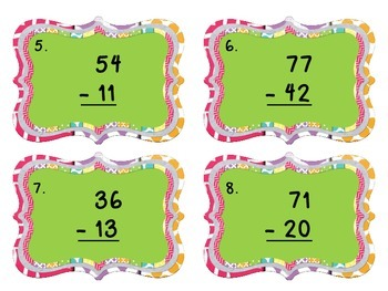 2-Digit Subtraction without Regrouping Scoot Game