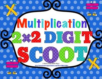 2 Digit Times 2 Digit Multiplication Scoot