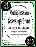 2-Digit X 1-Digit Multiplication Scavenger Hunt (TEKS 3.4G