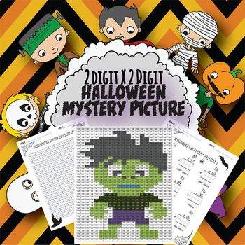 2 Digit X 2 Digit Halloween Mystery Picture