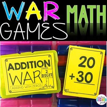 2 Digit ( adding with zeros ) War Game
