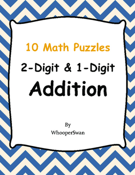 2-Digit and 1-Digit Addition Puzzles