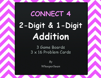 2-Digit and 1-Digit Addition - Connect 4 Game