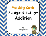 2-Digit and 1-Digit Addition Matching Cards
