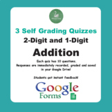 2-Digit and 1-Digit Addition - Quiz with Google Forms