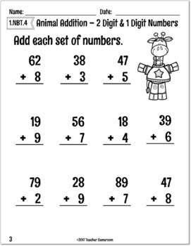 2 digit and 1 digit addition with regrouping worksheet by. Black Bedroom Furniture Sets. Home Design Ideas