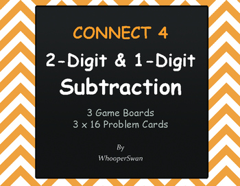2-Digit and 1-Digit Subtraction - Connect 4 Game