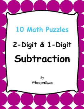 2-Digit and 1-Digit Subtraction Puzzles