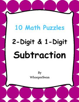 2-Digit and 1-Digit Subtraction Puzzles