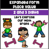 2-Digit and 3-Digit Expanded Form Worksheets