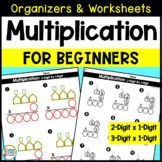2 Digit Multiplication Differentiated Worksheets and Organizers for Beginners