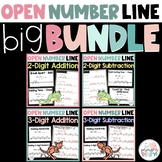 2 Digit and Three Digit Open Number Line Bundle Digital an
